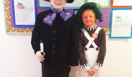 Pic 2. Robbie McArdle (Willie Wonka) and Oopma Loompa(Daniel Holmes)